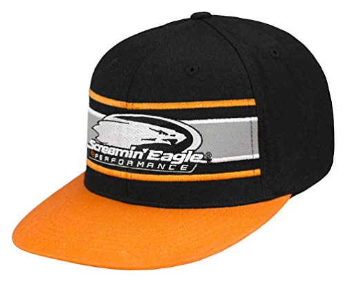 Harley-Davidson Men's Screamin' Eagle Eliminator Flat Bill Flex Cap (L/XL) Orange ()