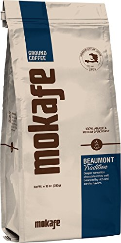 Mokafe Beaumont Tradition - Ground Organic Gourmet Coffee - Medium Dark Roast Premium Haitian - 100% Exotic Arabica