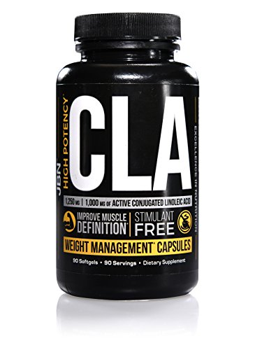CLA Supplement with 1,000 mg of Active CLA by JBN 90 Softgels. Conjugated Linoleic Acid from Natural Safflower Oil - Converts Stored Body Fat Into Energy. FREE SAMPLES with every order!