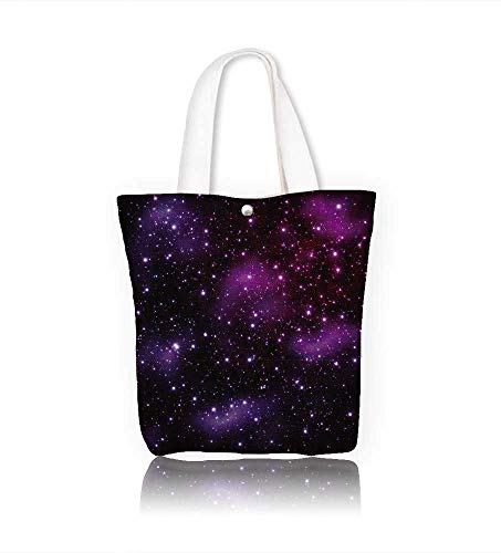 Canvas Shoulder Hand Bag Star on at night women Large Work tote Bag Shoulder Travel Totes Beach W12xH14xD4.7 INCH