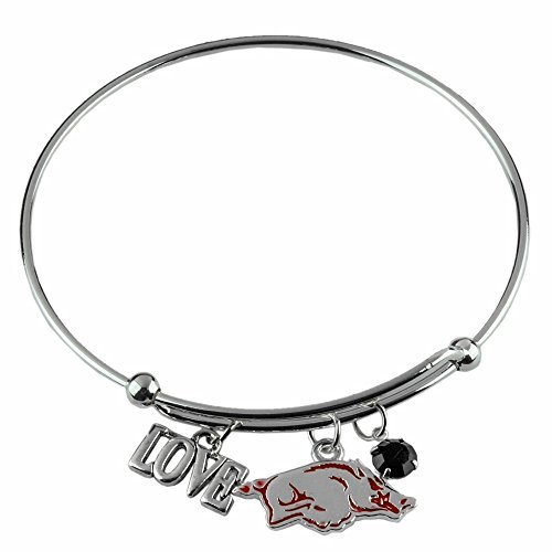 Sandol Arkansas Razorbacks Wire Charm Love Bracelet