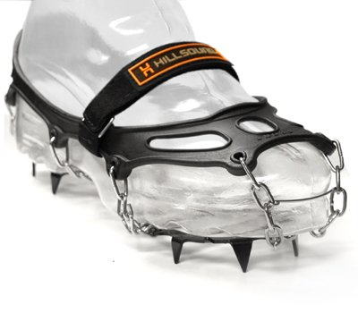 Hillsound Trail Crampon Traction Device, Black, Large