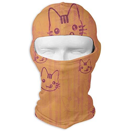 YIXKC Balaclava Patterns Cat Customized Face Mask Skiing for -