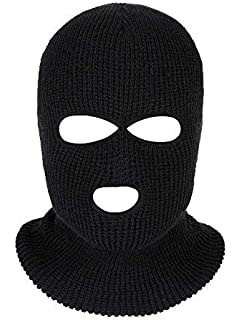 Satinior 3-Hole Knitted Full Face Cover Ski Mask baf7f591ff2