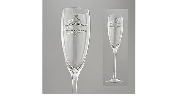 10.375 Clear Enesco Insignia from Eneso Happy Anniversary Glass