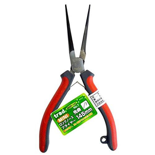 生活日用品 DIYグッズ工具 (業務用20個セット) 先曲りロングノーズプライヤー NO.7 145mm レッド&グレー B0753ZTKFG