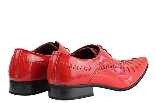 Scarpe Red 40 EU Uomo Rosso London Stringate XPOSED 5qWxw8AP8