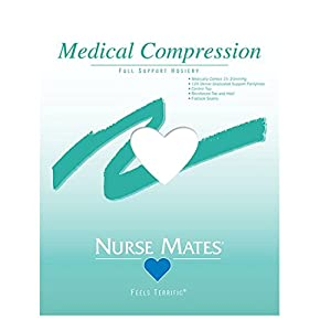 Nurse Mates Women's Medical Compression Pantyhose White B