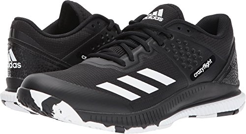 adidas Women's Crazyflight Bounce W Volleyball Shoe, Black/White/Black, 6.5 Medium US by adidas