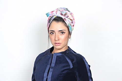 Head wrap for women, floral knit turban, turban hat, fashion turban, turban hijab, head covring, chemo cap, women's turban