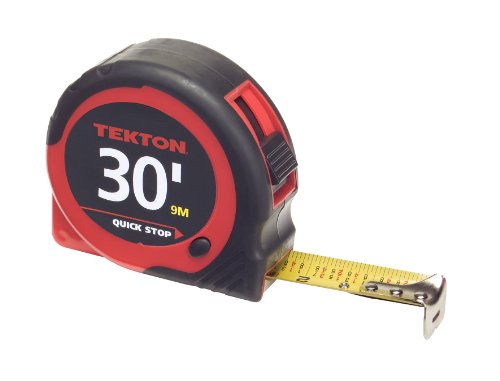 TEKTON 71954 30-Foot by 1-Inch Tape Measure (16 Impact Wrench Inch Hex)