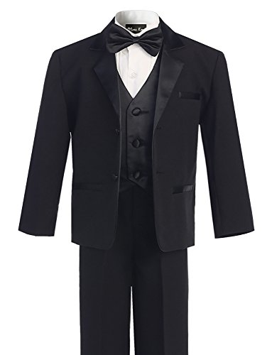 OLIVIA KOO Boy's Perfect Fit Classic Tuxedo Suit with No Tail