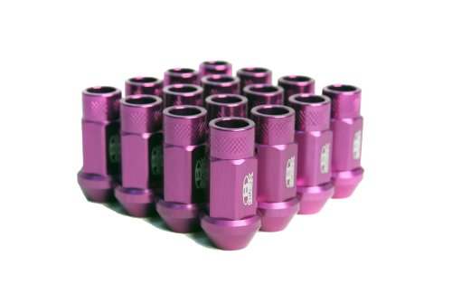 Blox Racing BXAC-00103-SSPR Street Series Purple 12 x 1.5mm Thread Size Forged Lug Nut, (Set of (Blox Lug Nuts)