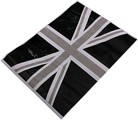 Alamor 2Pcs Negro Uni/ón Jack Bandera Vinilo Espejos Pegatinas para Mini Cooper