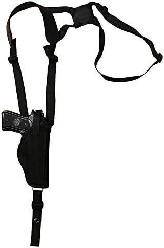 NEW Barsony Vertical Shoulder Holster Dbl Mag Pouch FN HK Glock Full Size 9mm 40