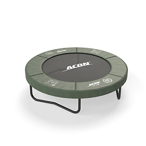 Acon Air 1.8 Fitness or Recreational Trampoline 6′ | Fun for kids too | 1.2″ Extra Thick Rubber Coated Spring Pad For Sale