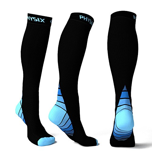 Compression Socks for Men & Women, BEST Graduated Athletic Fit for Running, Nurses, Shin Splints, Flight Travel, & Maternity Pregnancy. Boost Stamina, Circulation, & Recovery – Includes FREE EBook!