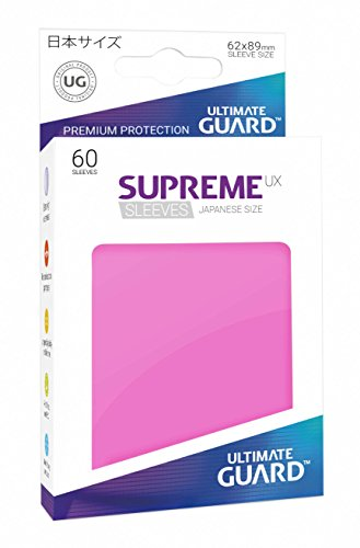 Ultimate Guard Supreme Japanese UX Card Sleeves (60 Piece), Pink (Yugioh Best Search Cards)