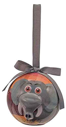 D&D Blinking Animal Christmas Ornament (Elephant) - Cardinals Hand Painted Ball Ornament