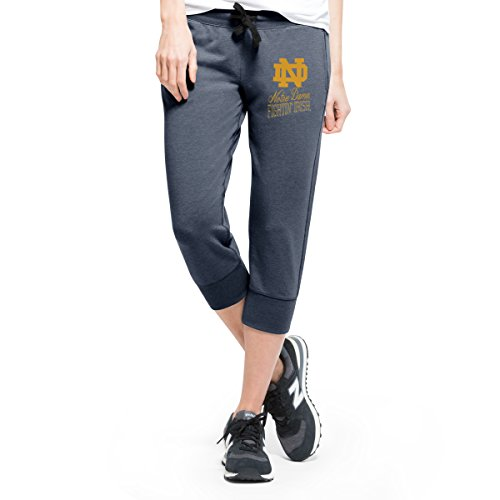 Notre Dame Gear (NCAA Notre Dame Fighting Irish Women's '47 Forward Stride Capri Pants, Shift Navy, Large)
