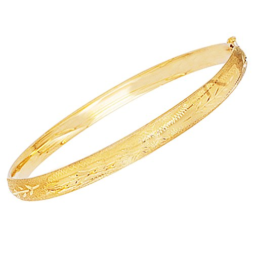 Children's 14k Real Yellow Gold Baby Kids Bangle Bracelet 5.5 Inches by Ritastephens