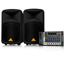 500-Watt 8-Channel Portable PA System, MP3 Player, Reverb and Wireless Option