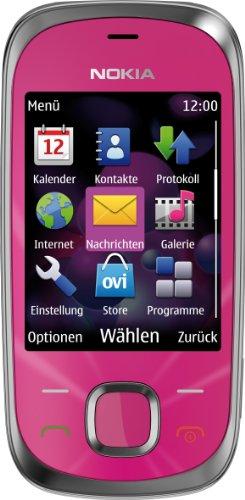 Unlocked Nokia 7230 3G GPS Quadband Phone (Hot Pink)- international phone ()