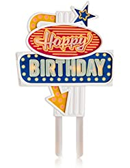 SUCK UK Happy Birthday Flashing Cake Topper