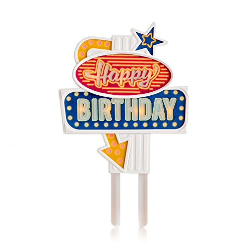 SUCK UK Happy Birthday Flashing Cake Topper (Las Vegas Birthday)
