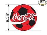Coca-Cola Football Club The Bahamas Soccer Football Club FC 2 Stickers Car Bumper Window Sticker Decal Huge 9.5 inches