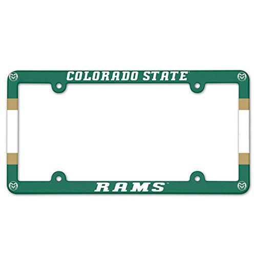 (NCAA License Plate with Full Color Frame, Colorado State )