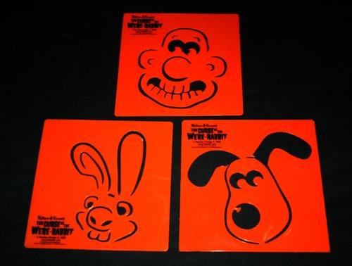 Jackolantern Stencils (WALLACE & GROMIT CURSE OF WERE-RABBIT Halloween Jack-o-Lantern Pumpkin Stencils Set of 3)