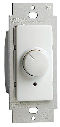 Leviton RPI06-1LZ Illumatech Decora Electro Mechanical Preset Rotary Dimmer, 120 Vac, 600 W, 1 P, 3 Way, White ()