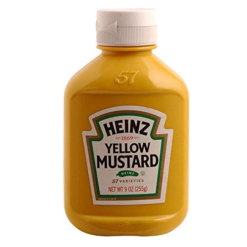 Heinz Weight - Heinz, Yellow Mustard, net weight 255 g (Pack of 1 bottle)