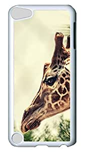 Brian114 Case, iPod Touch 5 Case, iPod Touch 5th Case Cover, Cute Animals Giraffe 11 Retro Protective Hard PC Back Case for iPod Touch 5 ( white )