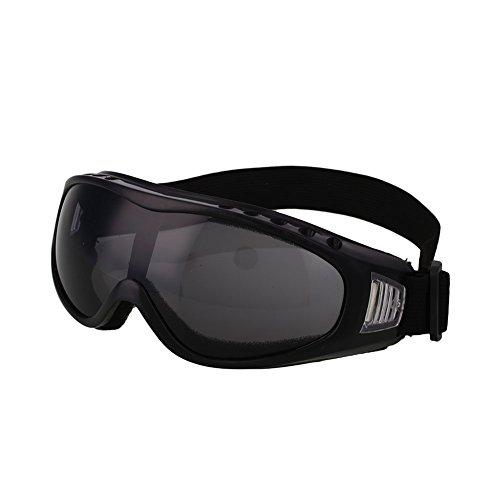 Forfar Gafas motocicleta de ciclo Los anteojos Gafas de esquí Al aire libre viento Airsoft Protección para los ojos Gris