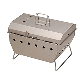 Image of Camping Grills Snow Peak Iron Grill Table Barbeque Box