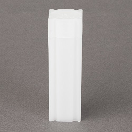 (100) Coinsafe Brand Square White Plastic (Penny Cent) Size Coin Storage Tube Holders