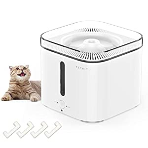 PETKIT Cat Water Fountain, 2L Pet Water Fountain for Dog Cat, Smart Working Mode, Super Quiet, Auto Shut-Off Cat Drinking Fountain Water Bowl with Water-Shortage, Filter-Change Reminder
