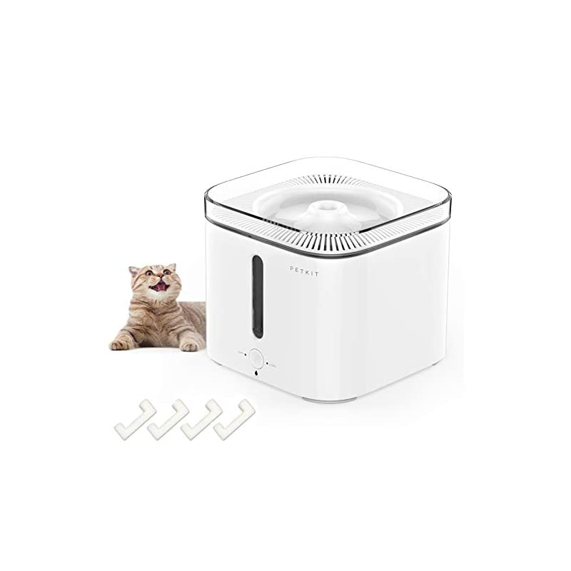 dog supplies online petkit cat water fountain, 2l pet water fountain for dog cat, smart working mode, super quiet, auto shut-off cat drinking fountain water bowl with water-shortage, filter-change reminder