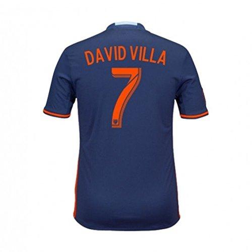 Adidas NYCFC Away Soccer Jersey 2017 David Villa #7 Size Adult -