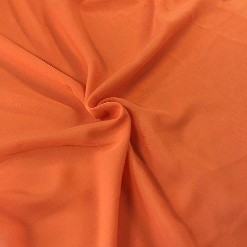 Solid Chiffon Fabric Polyester Dress Sheer 58