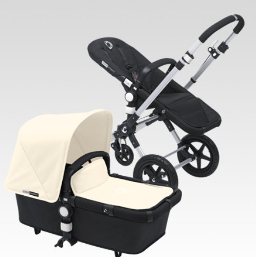 Bugaboo Cameleon 3 Stroller Black Base With New Extendable Sun Canopy (Off-White) by Bugaboo