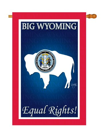 """Breeze Decor H108189 Wyoming Americana States Double Side Decorative House Flag, 28"""" x 40"""", Multicolor"""