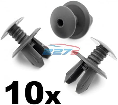 Push Fit 100 x Dark Grey Longer Fixing Panel Clips To Fit VW T4 T5 Transporter