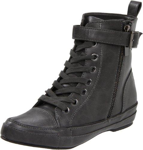 C Label Women's Basel-1 Sneaker,Charcoal,5.5 M US