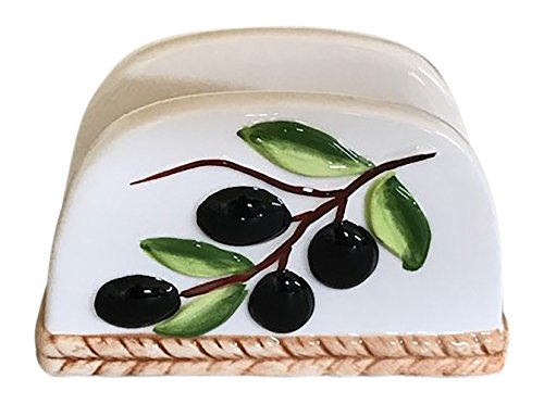 (Tuscan Olive Design Napkin Holder)