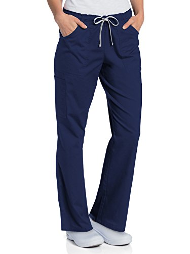 Cargo Scrub Pant Navy (Landau All Day 2035 Women's Full Elastic Cargo Pant Navy L)