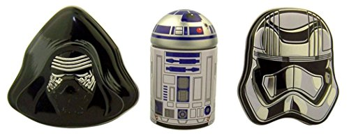Star Wars Kylo Ren R2D2 and Captain Phasma Tin Container Set