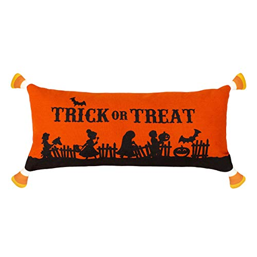 Creative Home Ideas Trick or Treat Candy Corn Halloween Pillow Decorative Pillow, 9